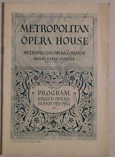 Metropolitan Opera House 1931-32 rare program casazza