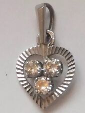 Antique 18ct 18k Gold Diamond Pendant