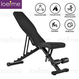 Adjustable Weight Bench Gym Workout Flat Incline Decline Sit Up Lifting Folding