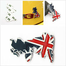 Metal 3D United Kingdom Union Map Flag Pattern Car Exterior Sticker For Daihatsu