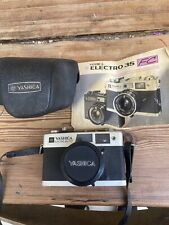 yashica electro 35 camera With Instructions And Case (not Tested)