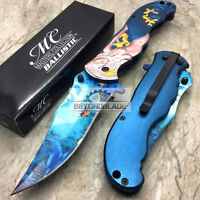 """MC Collection Mermaid Spring Assisted Folding Rescue Pocket 5"""" Knife MC-A013BL"""
