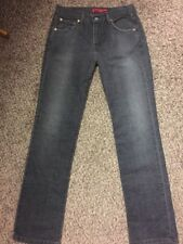 Levi's 505 Nouveau Straight Leg Stretch Low Rise Gray Jeans Size 6 M Made In USA