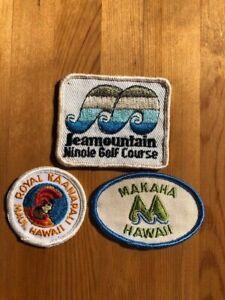 1970's HAWAII Golf Patches. Royal Kaanapali, Makaha, SeaMountain