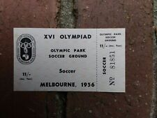 Melbourne Olympic Games 1956 Unused Soccer /Football Ticket Small