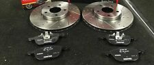 FORD FOCUS MK3 1.0ECO 1.6TDCi CROSS DRILLED FRONT BRAKE DISCS 278MM MINTEX PADS