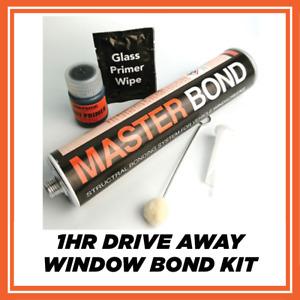2 x WINDSCREEN GLASS SEALANT BONDING ADHESIVE GLUE CAR DOUBLE KIT