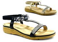 Ladies New Casual/Formal Open Toe Wedge Heel Strappy Women Sandal UK Size 3-8
