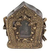 Tibet 19. Jh. Gau - A Tibetan Ghau Prayer Box Buddha Tsa tsa - Tibétain Tibetano