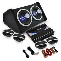 Auna Set Car Audio Hifi 4.1 5000W Subwoofer 2000W Amplificatore 4 Altoparlanti