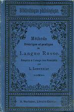 Lemonnier MÉTHODE THÉORIQUE ET PRATIQUE DE LANGUE RUSSE