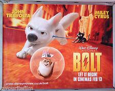 Cinema Poster: BOLT 2009 (Quad) John Travolta Miley Cyrus Malcolm McDowell