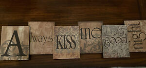 Picture Wall Decor-Always Kiss Me Goodnight-squares wall Hanger! CUTE!