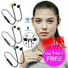 Wireless Headphone Bluetooth Earphones for Samsung iPhone - Buy 1 Get 1 Free