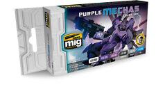 Ammo by Mig Jimenez Purple Mechas Color Set # 7157