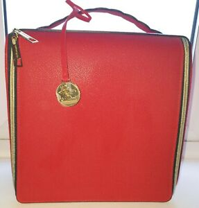 Estee Lauder Cosmetic Beauty Bag Red - VGC