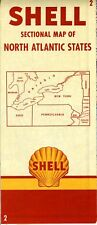 1952 Shell Road Map: North Atlantic States NOS