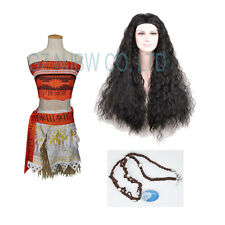 Girls Moana Costume Hawaiian Princess Fancy Dress Deluxe Dress Xmas Gift