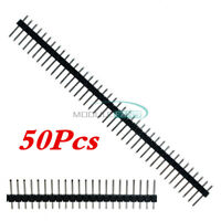 50PCS 40Pin 2.54mm Male PCB Single Row Straight Header Strip Connector Arduino
