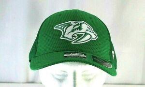 Nashville Predator NHL  St Patrick's Day Green Baseball Cap Stretch Fit L/XL