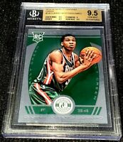 GIANNIS ANTETOKOUNMPO 13-14 CERTIFIED GREEN PARALLEL ROOKIE RC 5/5 1/1 BGS 9.5