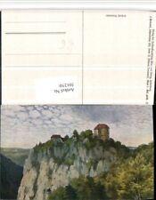 501250,Künstler AK F. Hummel Schloss Bronnen b. Fridingen