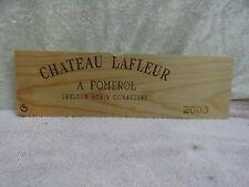 2003 CHATEAU LA FLEUR  WOOD WINE PANEL END