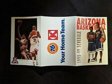 1998-99 University of Arizona Men's Basketball Schedule - Jason Terry