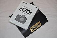 Cámara SLR Genuino Nikon D70S Digital manual de instrucciones original de guía del usuario