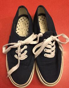 Next Girls Womens Unisex Blue Canvas Lace Up Shoes Size Uk 4 (37)