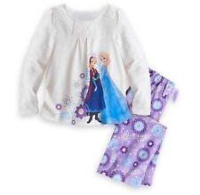 NEW Disney Store Authentic Frozen Pajama Set Anna and Elsa Girls Size 9/10