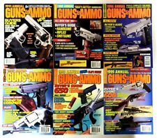 Vintage GUNS & AMMO Annual 1990s Collection Lot of 6 Good Condition