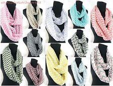 wholesale 10 double loop infinity scarf Chevron infinity scarf 2-loop