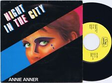 ANNIE ANNER Night In The City Portuguese 45PS 1985