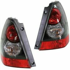 FIT SUBARU FORESTER 2006-2008 BLACK SPORT TAILLIGHTS TAIL LIGHTS REAR LAMPS PAIR