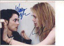 Original Hand Signed 8 X 10 Photo of Angelina Jolie and Winona Ryder with COA