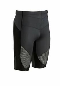 NWT CW-X Men's Stabilyx Ventilator Running Compression Shorts BLACK LARGE