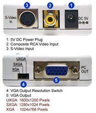 Professional Composite RCA To VGA RGBHV Video Scaler 1600x1200 pixels