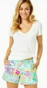 Lilly Pulitzer Callahan Pop Up Lilly State Of Mind Ponte Knit Shorts 16