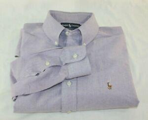 Polo Ralph Lauren Shirt Mens Large Blake Lavender L/S Button Down Vintage