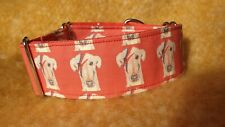 Ziggy Star Dog, Jane Wren Artwork. 50mm Martingale Collar, Greyhound