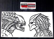 Custom Predator Vs Alien Vinyl Decal Stickers Wall Car Computer Case Mod