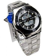 Casio Mens World Time Alarm Analog Digital Sport Watch NIB AQ164WD AQ-164WD-1AV