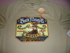 NEW Men's size Small Buck Meister Whiskey 30+ UPF Protection  Brown Tee Shirt