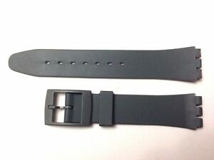 Plastic Resin SWATCH Replacement Watch Strap -17mm - Grey Resin