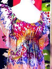 ROBE GARDEN COLLECTION MANCHE PAPILLON EMPIRE H&M  DRESS 36-40