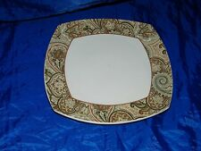 Waverly PADDOCK SHAWL Brown Rust Dinner Plate 18396