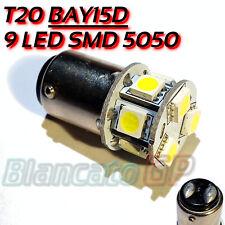 Lampada luci diurne / posizione con 9 SMD 5050 LED BAY15D compatibili P21W 6000K