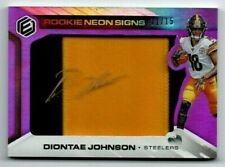 DIONTAE JOHNSON 2019 PANINI ELEMENTS ROOKIE SIGNS PATCH AUTO 11/15 RC AUTOGRAPH