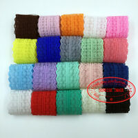 Lots, 12-300 Yards, Bilateral Handicrafts Embroidered Net Lace Trim Ribbon FL01